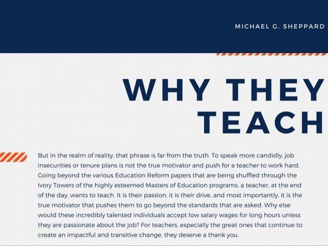 The Characteristics of a Good Teacher by Michael G. Sheppard Slide 3