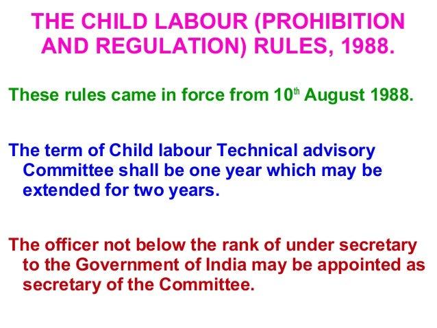 child labour act 1986 in telugu