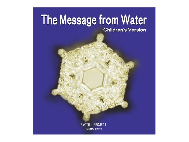 The Message From Water in English Children's Version