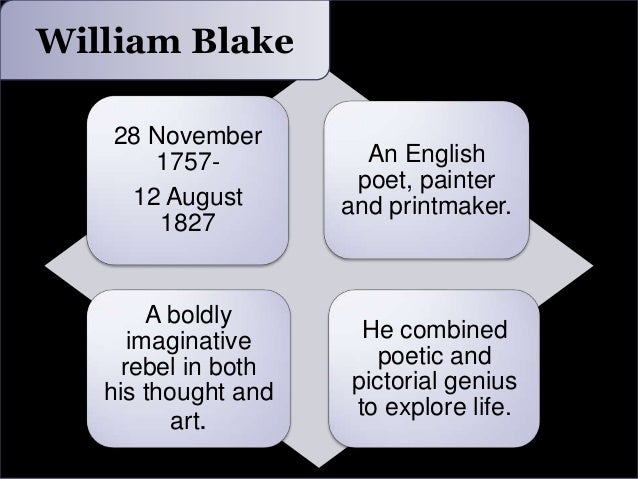 "an analysis of the life of william blake and his poem the chimney sweeper William blake's two ""chimney sweeper"" poems from the songs of innocence and songs of experience, heretofore referred to as the ""first poem"" and ""second poem"", show a progression in."