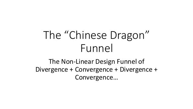 "The ""Chinese Dragon"" Funnel The Non-Linear Design Funnel of Divergence + Convergence + Divergence + Convergence…"