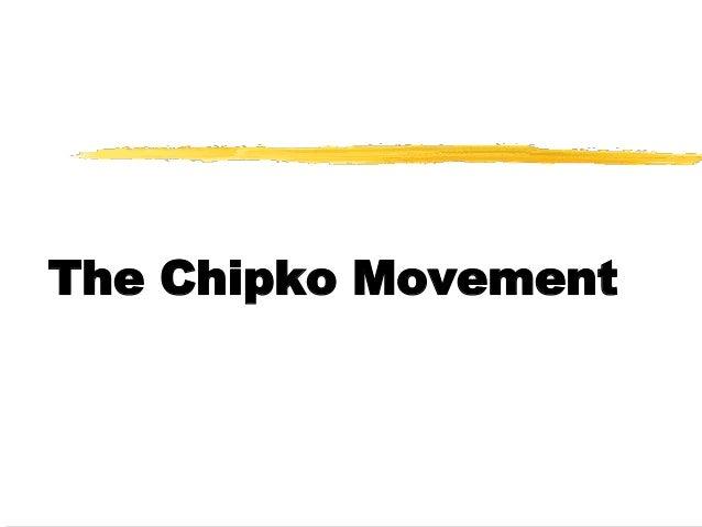 Chipko movement case study