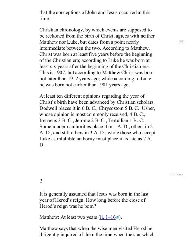 an analysis of the seven parts in the seventh chapter of christ and reconciliation Luke chapter 6 luke  exo 12:16), ye shall count unto you seven sabbaths  which consists on earth in a reconciliation of the creator with his.