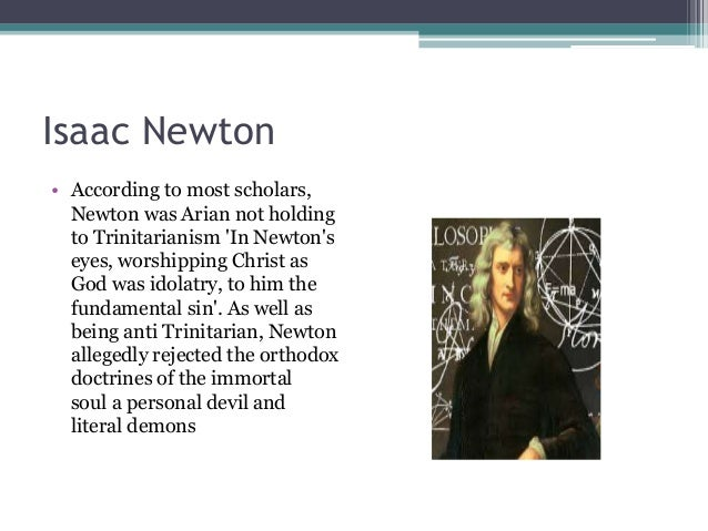 Image result for isaac newton on the Trinity doctrine