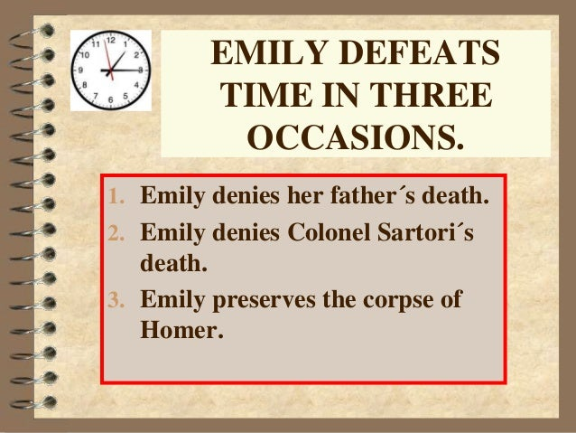 a rose for emily timeline A rose for emily is a short story by american author william faulkner, first published in the april 30, 1930, issue of the forum the story takes place in faulkner.