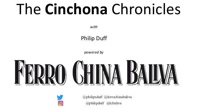 with Philip Duff powered by The Cinchona Chronicles @philipduff @fcbaliva @philipsduff @ferrochinabaliva