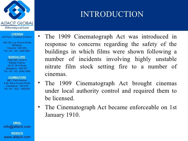 The cinematograph act Slide 2