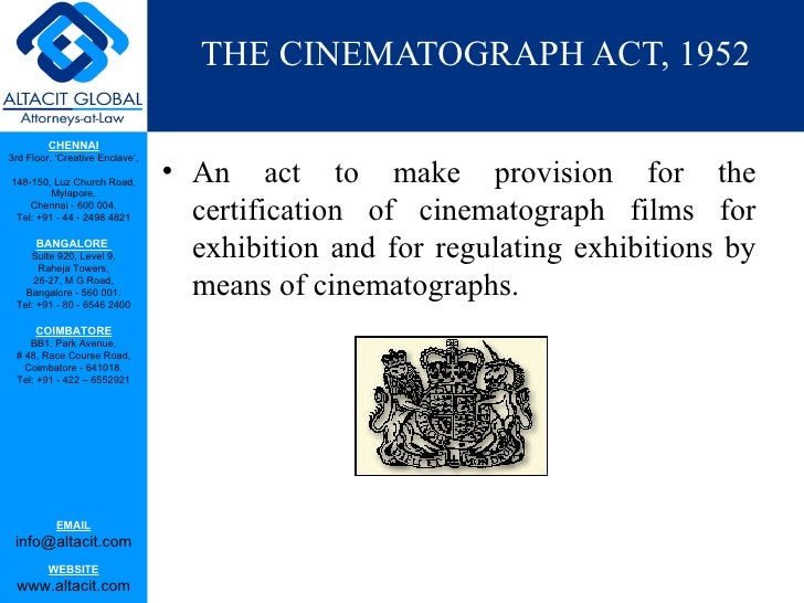 The cinematograph act Slide 3