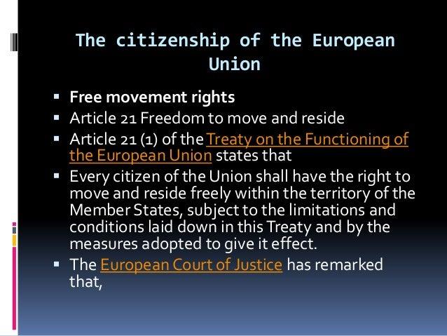 citizenship and the european union essay European union citizenship: writing the future dora kostakopoulou (law, university of manchester email address: dorak@manacuk) i introduction.