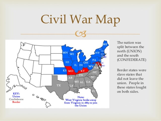 The civil war topic power point