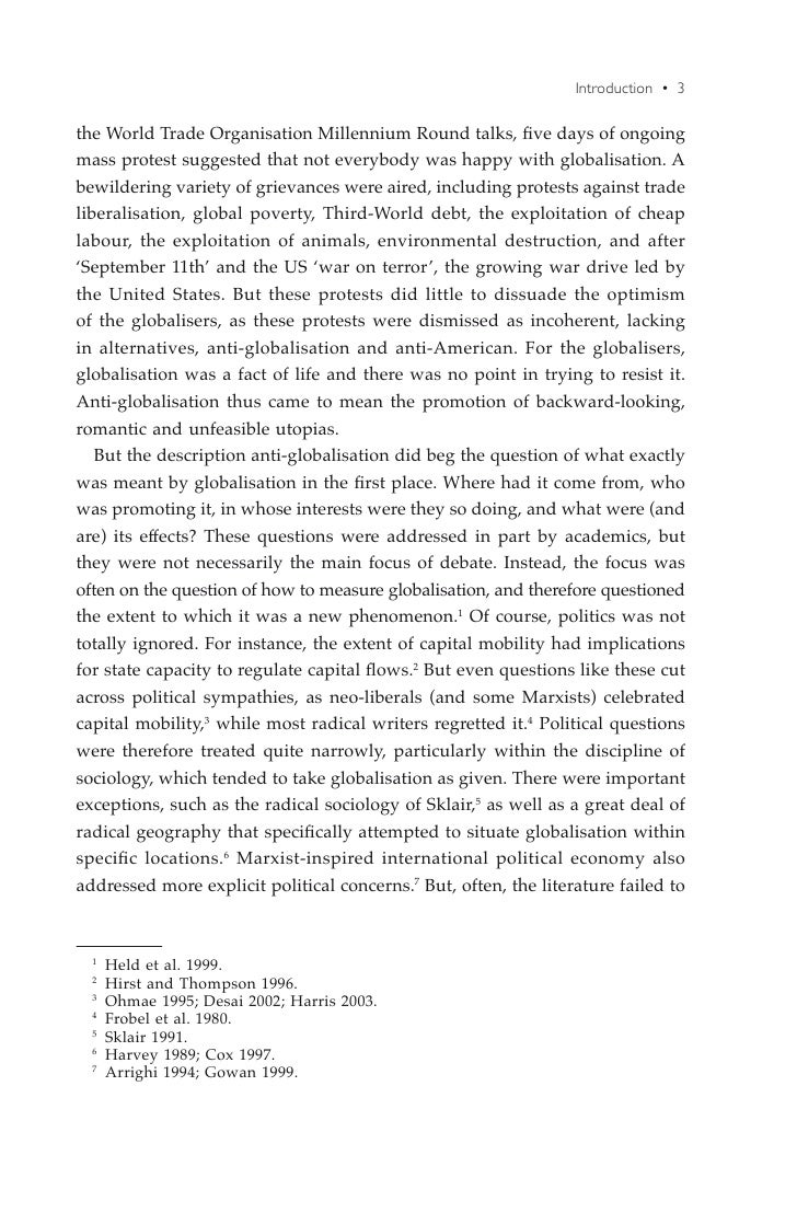 Liberalism globalization and the constraints derived
