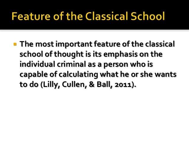 school of criminology The Classical School of Criminology