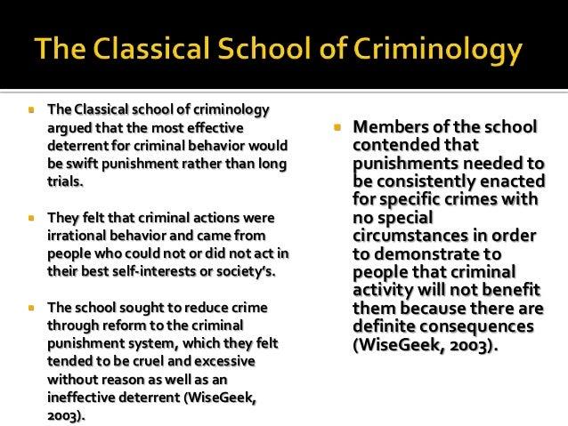 Criminology theories essay