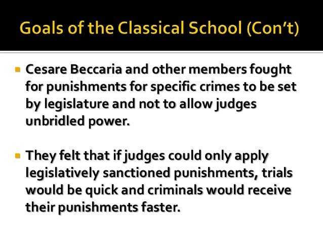 who founded the classical school of criminology