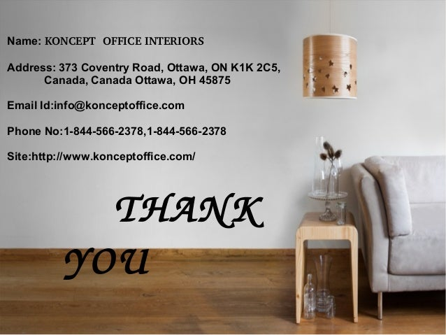 7 THANK YOU Name KONCEPT OFFICE INTERIORS