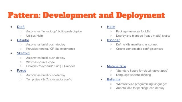 Pattern: Development and Deployment