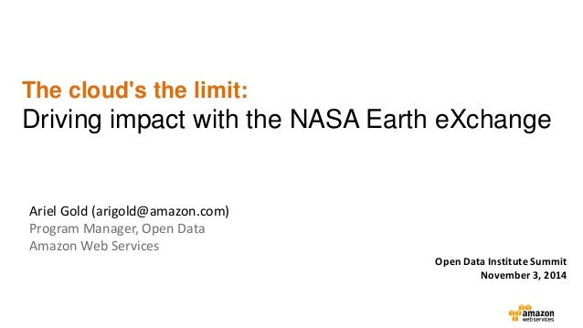 The Cloud's the Limit: Driving Impact with the NASA Earth ...