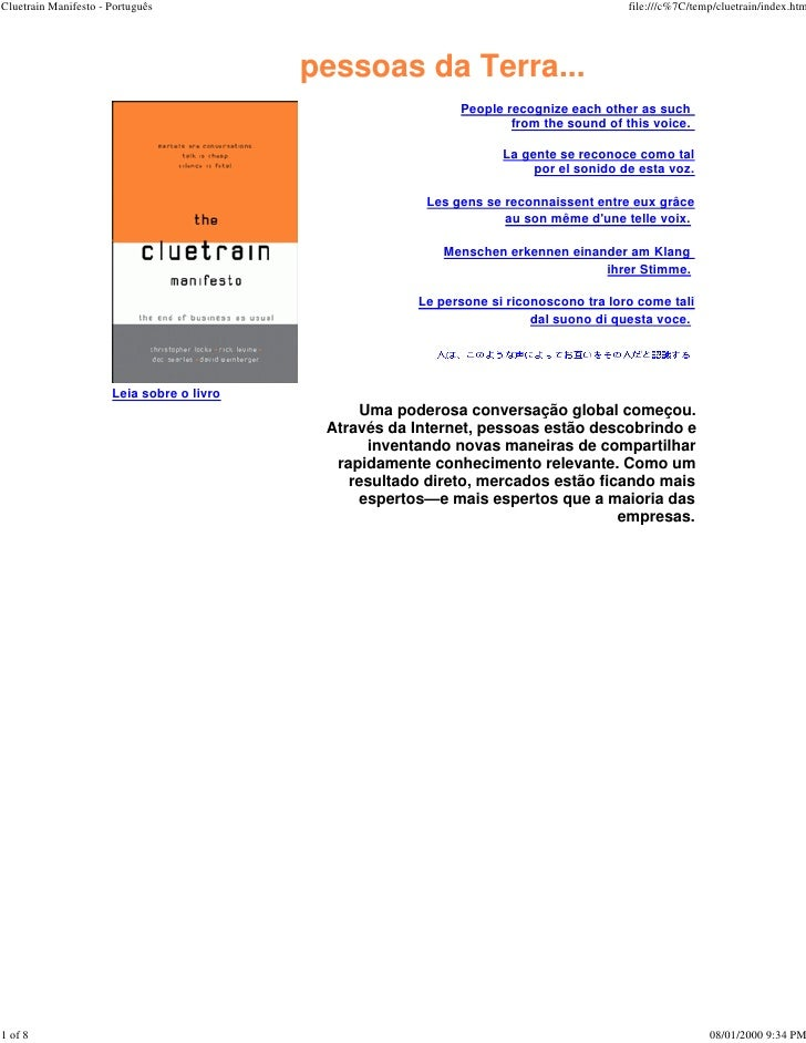 Cluetrain Manifesto - Português                                                         file:///c%7C/temp/cluetrain/index....