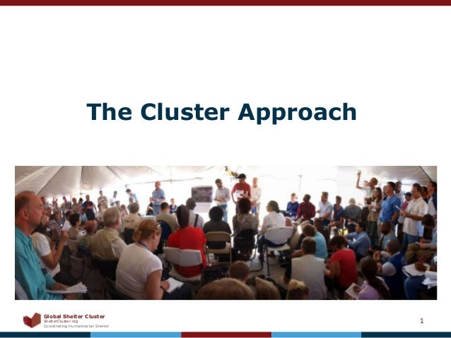 Global Shelter ClusterShelterCluster.orgCoordinating Humanitarian ShelterThe Cluster Approach1