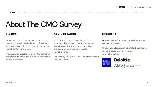 The CMO Survey Highlights and Insights Report - Feb 2019 Slide 2