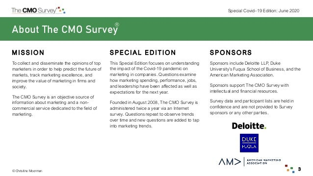 The CMO Survey Highlights and Insights Report - June 2020 Slide 3