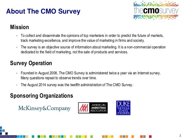 The CMO Survey Report: Highlight and Insights August 2014 Slide 2