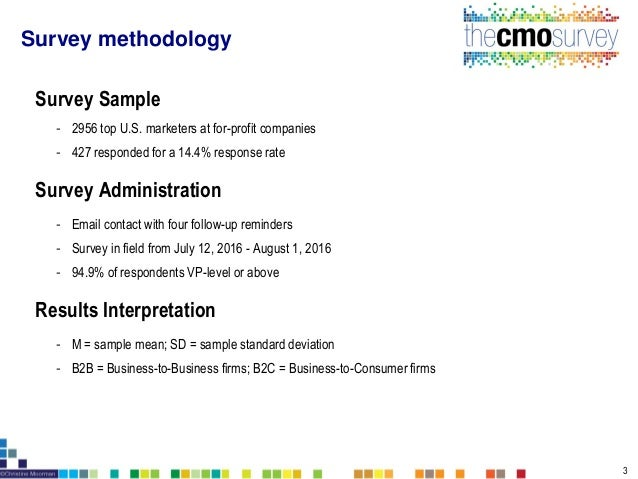 The CMO Survey Highlights and Insights August 2016 Slide 3