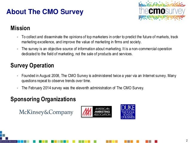 The CMO Survey Report February 2014 - Highlights and Insights Slide 2