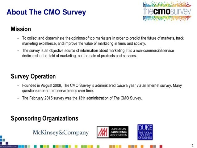 The CMO Survey Highlights and Insights February 2015 Slide 2