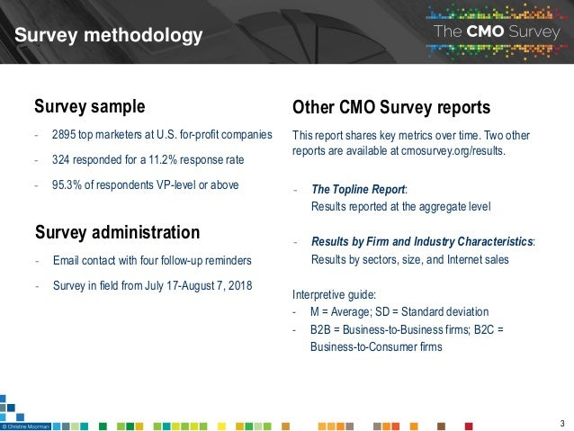 The CMO Survey - Highlights and Insights Report - August 2018 Slide 3