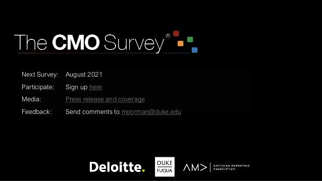 Next Survey: August 2021 Participate: Sign up here Media: Press release and coverage Feedback: Send comments to moorman@du...