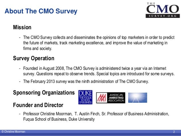 The CMO Survey Highlights and Insights February 2013 - Corrected Slide 2