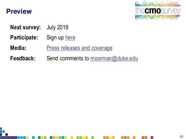 The CMO Survey Highlights and Insights Feb 2016