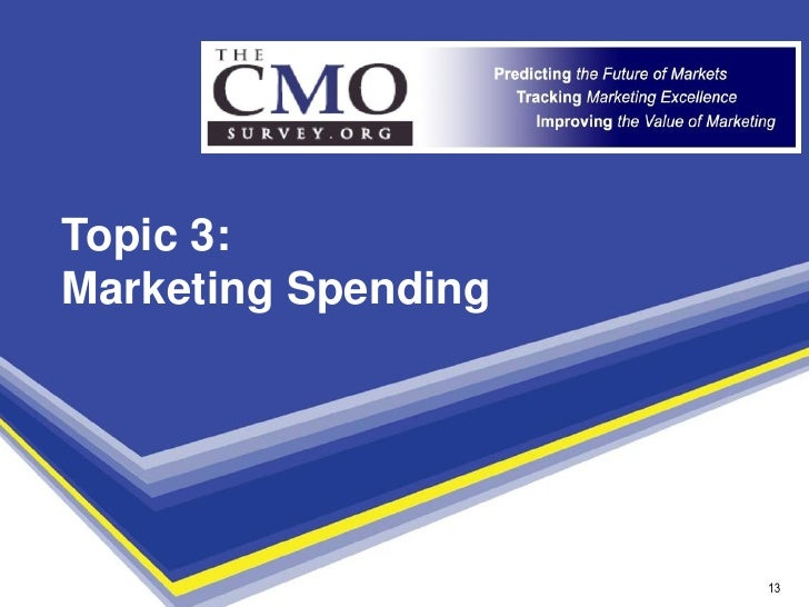 Topic 3: Marketing Spending                          13                       13
