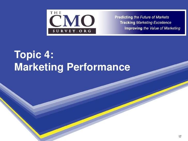 Topic 4: Marketing Performance                             17                          17