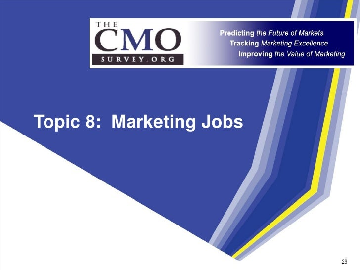 Topic 8: Marketing Jobs                               29                            29