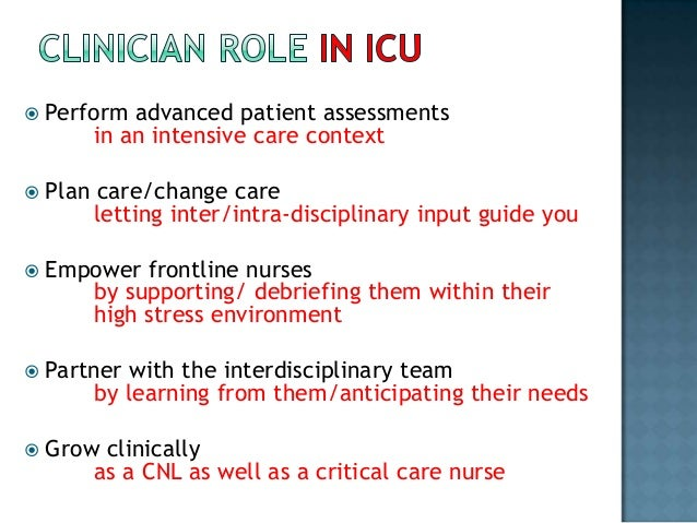 the role of a critical care Home » integrating nurse practitioners into the critical care team integrating nurse practitioners into the the evolving role of the acute care nurse.
