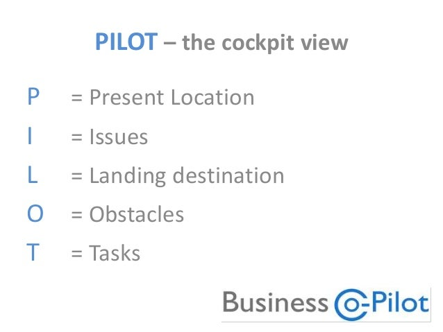 The business coaching process - how to PILOT yourself to business success Slide 3