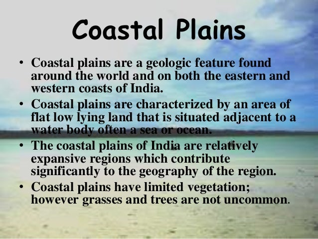 features of western coastal plains