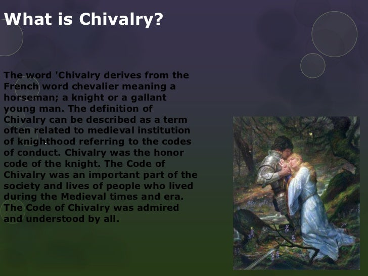 Chivalric definition