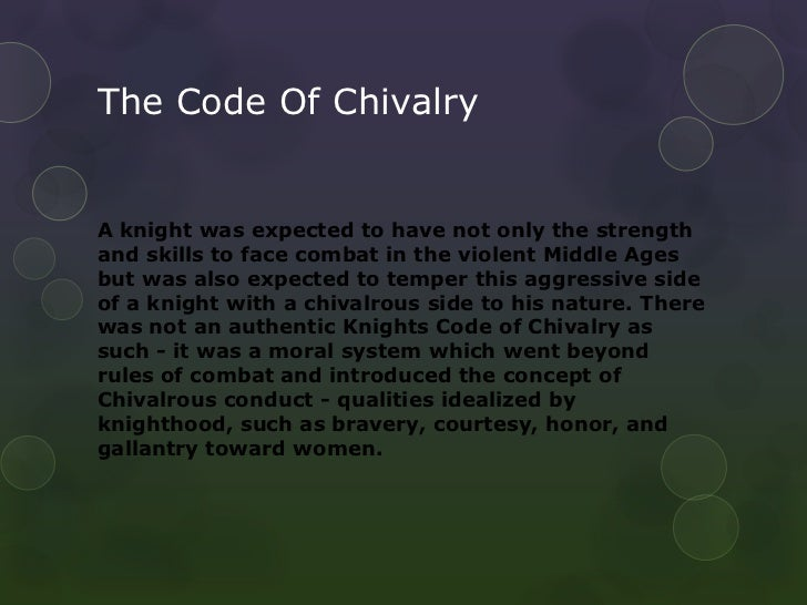 what is the meaning of chivalry