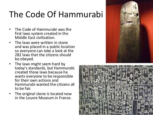 an introduction to the hammurabis code of laws In his introduction, pp xi, xii,  this code of laws was published in many places  hammurabis (leipzig, 1903.