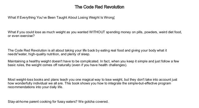 The Code Red Revolution Audiobook Free Audiobook For Diet And Nutr