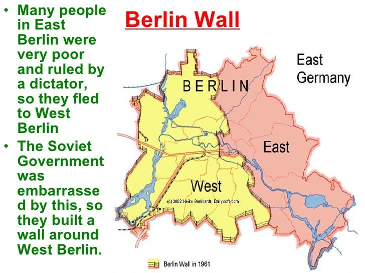 The Cold War - Berlin wall 1961 map