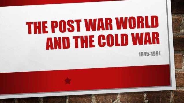 INTRODUCTION •Following the war, the United States and the Soviet Union vie for superiority, and both countries extend the...