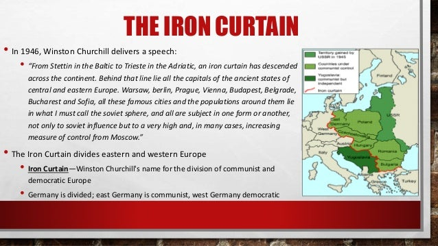 summary of churchill s iron curtain speech Iron curtain speech historic film footage of winston churchill's iron curtain speech (from sinews of peace address) at westminster college, 1946.