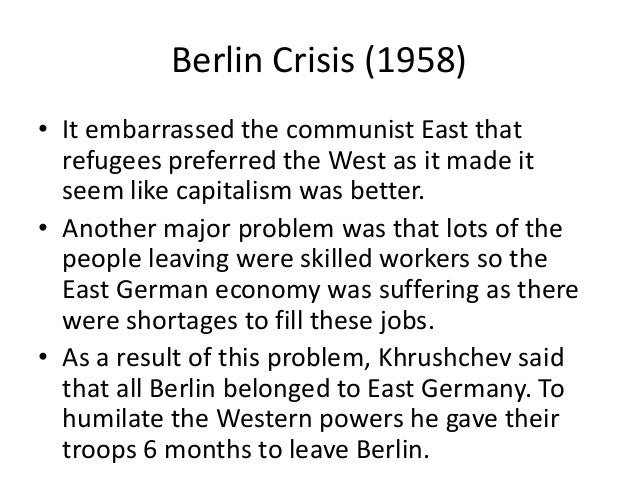 berlin crisis of 1961 from perspective Cuban missile crisis, possibly for  april of 1961 with the unsuccessful  khrushchev used the berlin issue as a diversion.