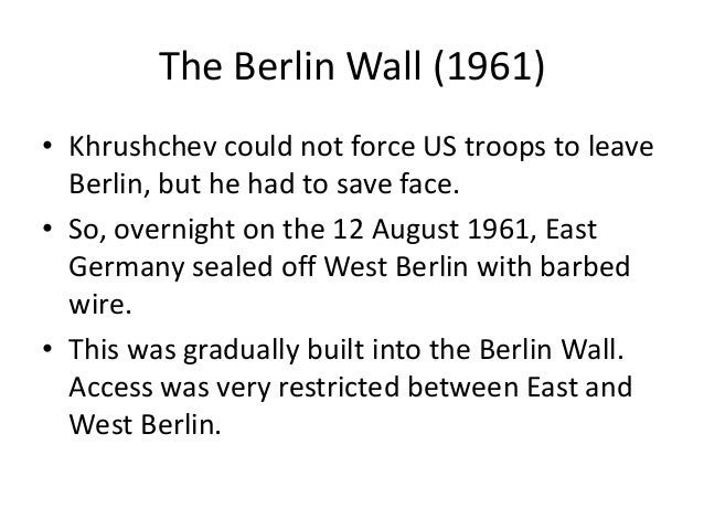 Fall of the berlin wall essay
