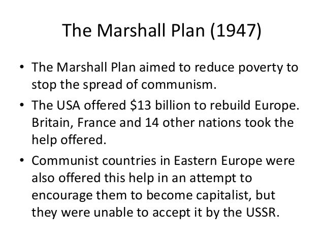 18b the marshall plan essay example The purpose of this essay is to examine how relevant the marshall plan was to western europe's economic recovery the european continent had been devastated by.