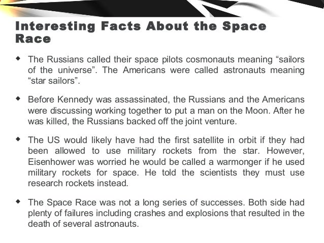 The space race the us vs the soviet union for Fun facts about america